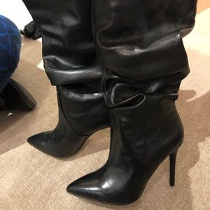 Jessica Simpson Black Slouch Boots Size 7.5